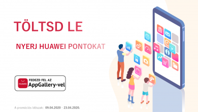 AppGallery letöltések után Huawei Pontokat kaphatsz