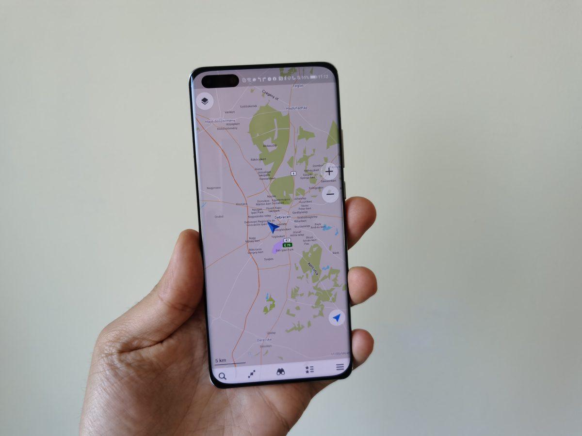 MAPS.ME a Huawei P40 Prón