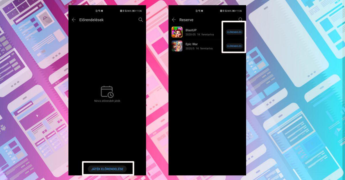 Már előrendelhetők játékok az AppGallery-ben