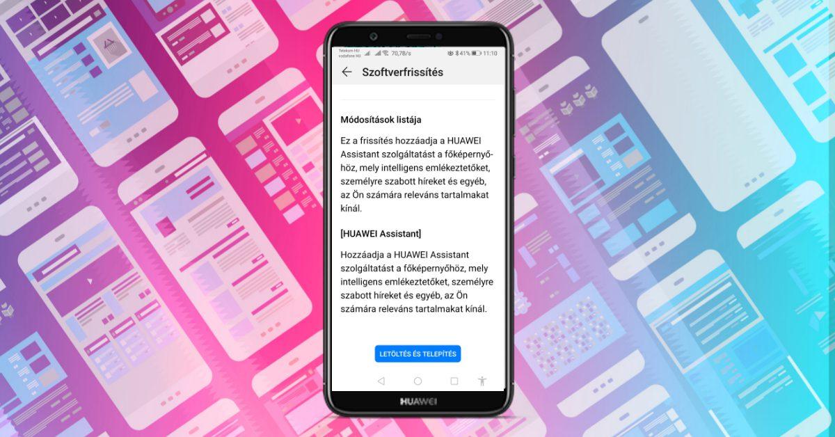 Új funckiók a Huawei P smart 203-as frissítésével