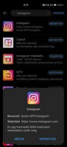 Instagram az AppGallery-ben