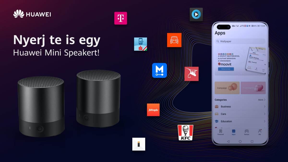 Bluetooth hangszórót lehet nyerni a Huawei közvélemény kutatásán