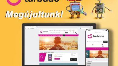 A Turbado.hu megújult weboldala 2020. október 30-án, a cég Facebook oldala alapján.
