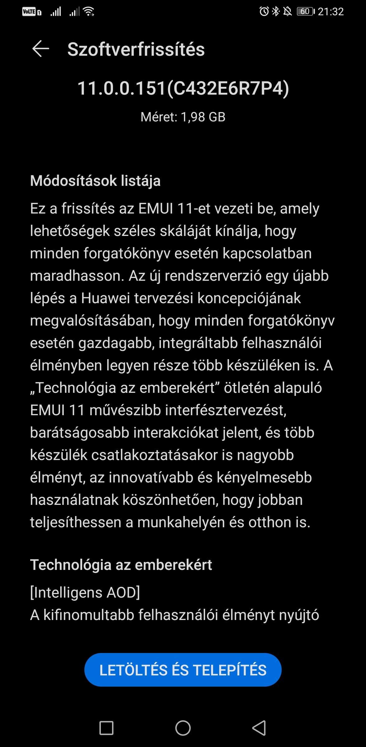 Huawei Mate 30 Pro EMUI 11 frissítés