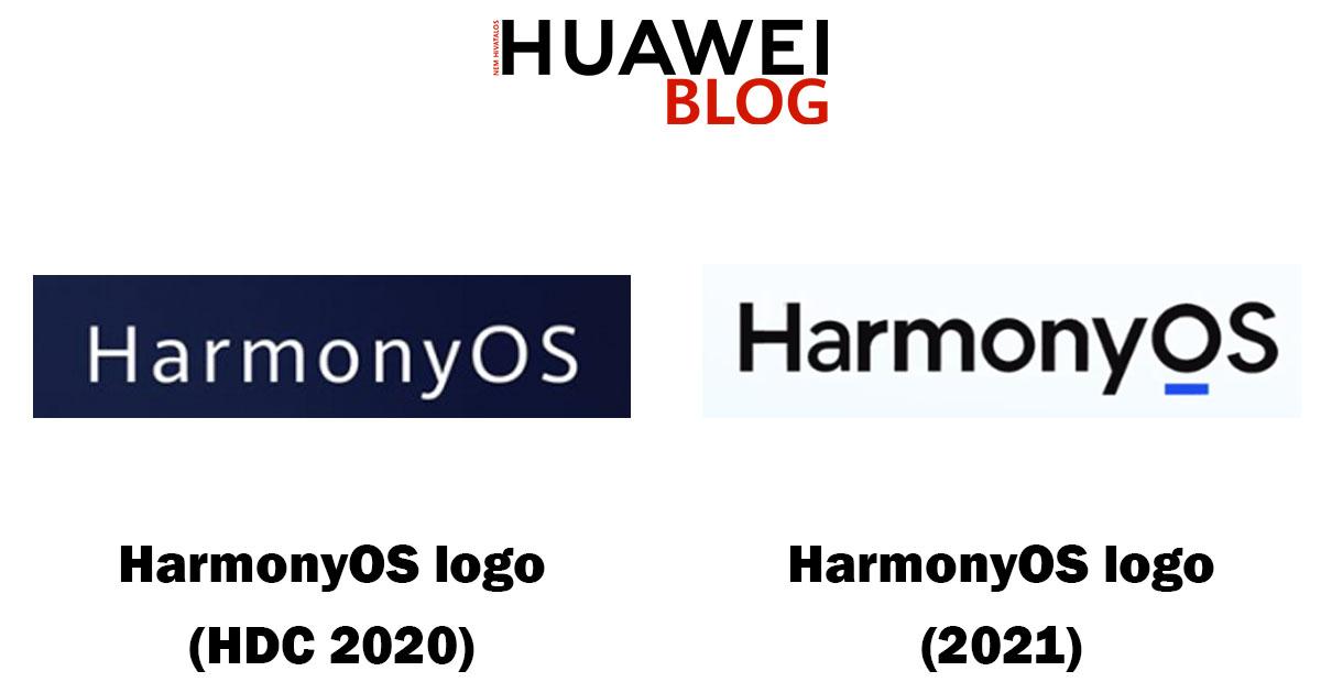 Bal oldalt a logó, amit a HDC 2020-on használt a Huawei. Jobb oldalt az új logó, amely Thomas Liu bemutatkozó sajtóeseményén tűnt fel.