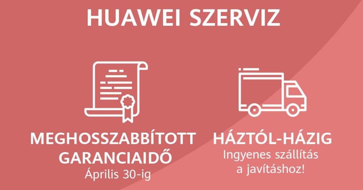 2021. április 30-ig újabb garancia hosszabbítás a Huawei készülékekre