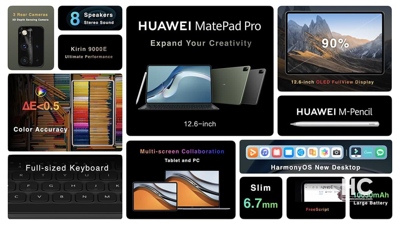 OLED kijelzővel és 8 hangszóróval jött a Huawei MatePad Pro 12.6 tablet