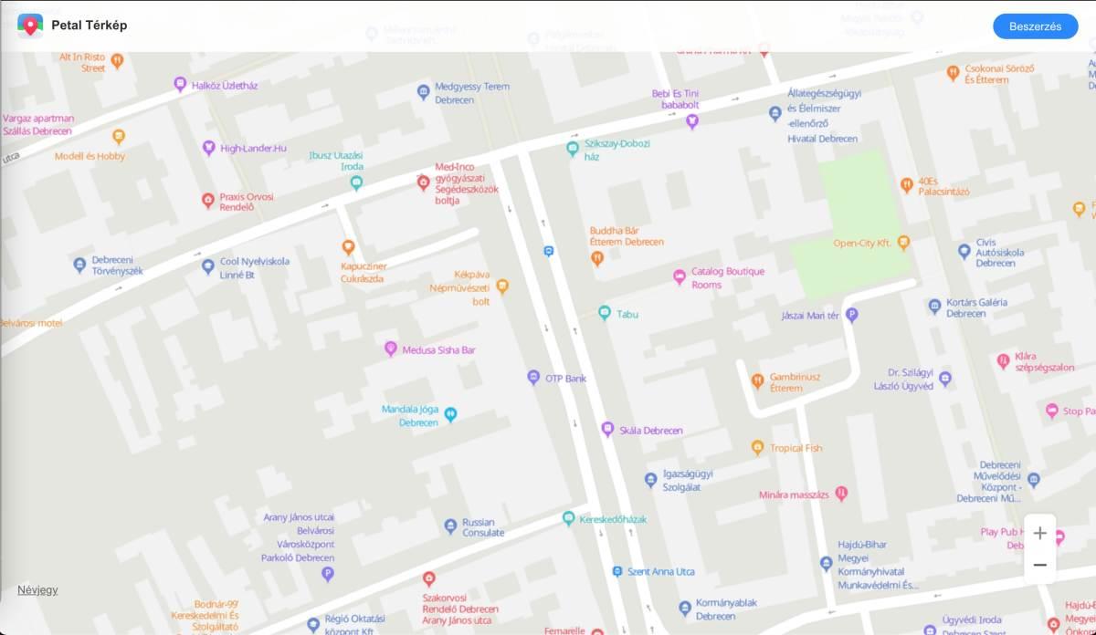 Webes böngészőből is elérhető a Petal Térkép