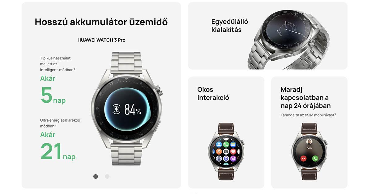 Huawei Watch 3 Pro okosóra