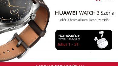Július végéig jár headset a Huawei Watch 3 széria mellé